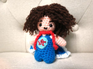 Small crochet doll of Danny Sexbang